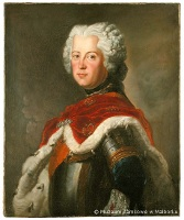 Portrait of young Frederick William, copy of painting by Antoine Pesne (1740)